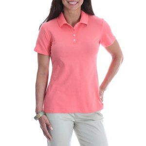 Riders by Lee polo shirt pink womens size L